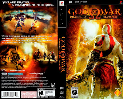 Jogo God of War - Chains of Olympus PSP DVD Capa