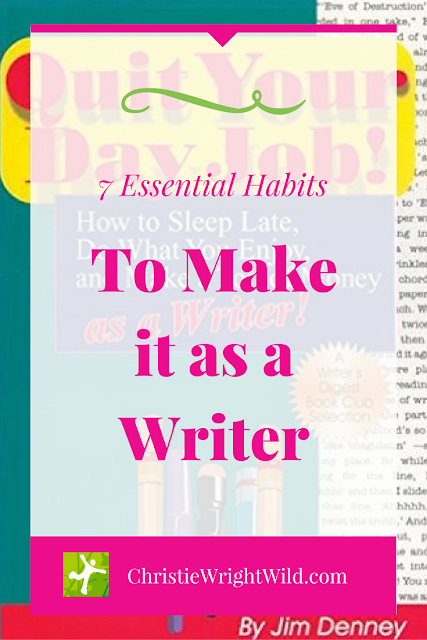 7 Essential Habits to Make it as a Writer | how to sleep late | writer habits | making money as a writer | author advice | writing books | resources for writers