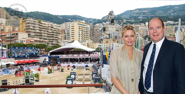 Prince Albert and Princess Charlene attended the 2013 Monaco International Jumping as part of Global Champions Tour