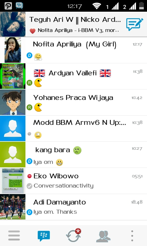 i-BBM V3 For Android Like iPhone BBBM