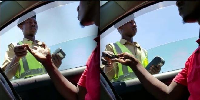 Trafiki Alierekodiwa Akipewa Rushwa Atimuliwa