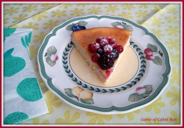 Pastel de queso ricotta y mascarpone