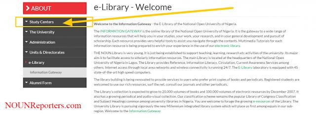 Accessing NOUN e-library Study Centers