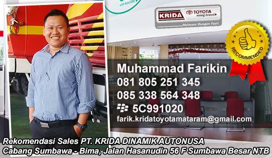 Rekomendasi Sales Toyota Sumbawa