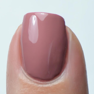 mauve nail polish swatch