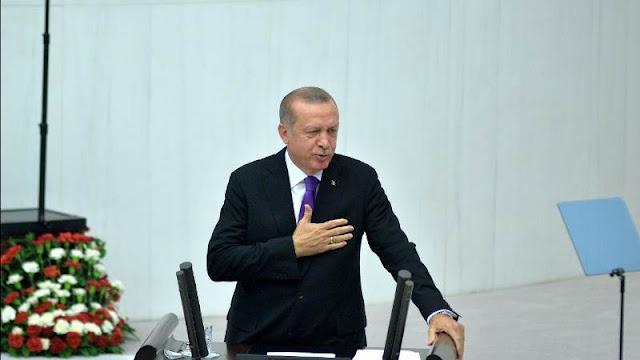 Tổng thống Erdogan phát biểu trước Quốc hội Thổ Nhĩ Kỳ ngày 23/10/2018