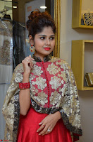 Anya South Actress model in Red Anarkali Dress at Splurge   Divalicious curtain raiser ~ Exclusive Celebrities Galleries 016.JPG