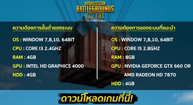 مواصفات تشغيل لعبة ببجي للكمبيوتر