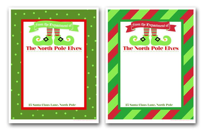 Free Printable Elf Letterhead