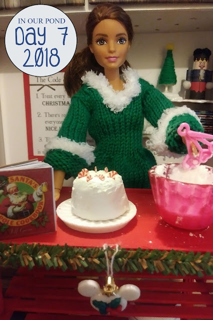 Joy and Hope (elf on the shelf) Adventures for Christmas // In Our Pond // cake decorating // baking // peppermint