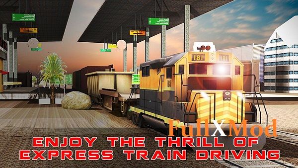 Train Cargo Crane Simulator 3D Mod Apk Full Unlocked