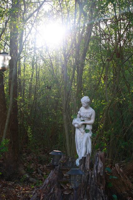 garden, plants, garden statues