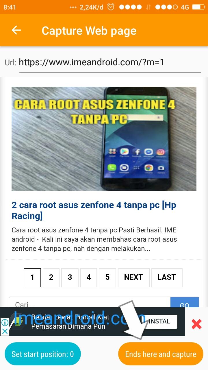 2 Cara Screenshot Panjang Dan Tanpa Aplikasi Semua Hp Android Ime Android