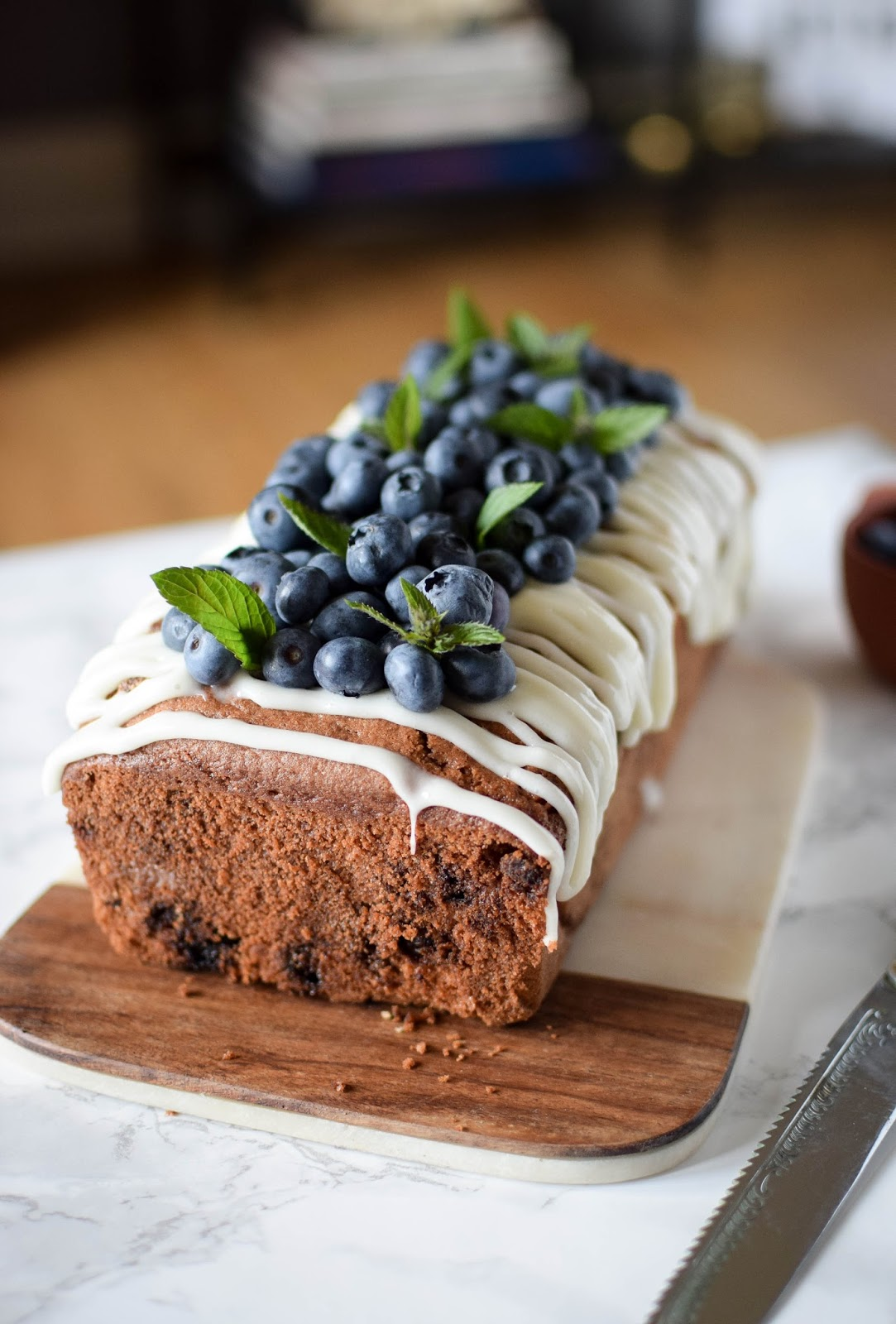 Blueberry White Chocolate Cake