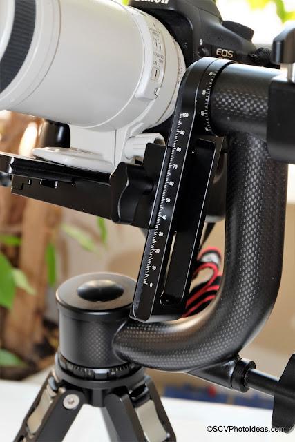 Sunwayfoto GH-01 Carbon fiber Gimbal Head closeup
