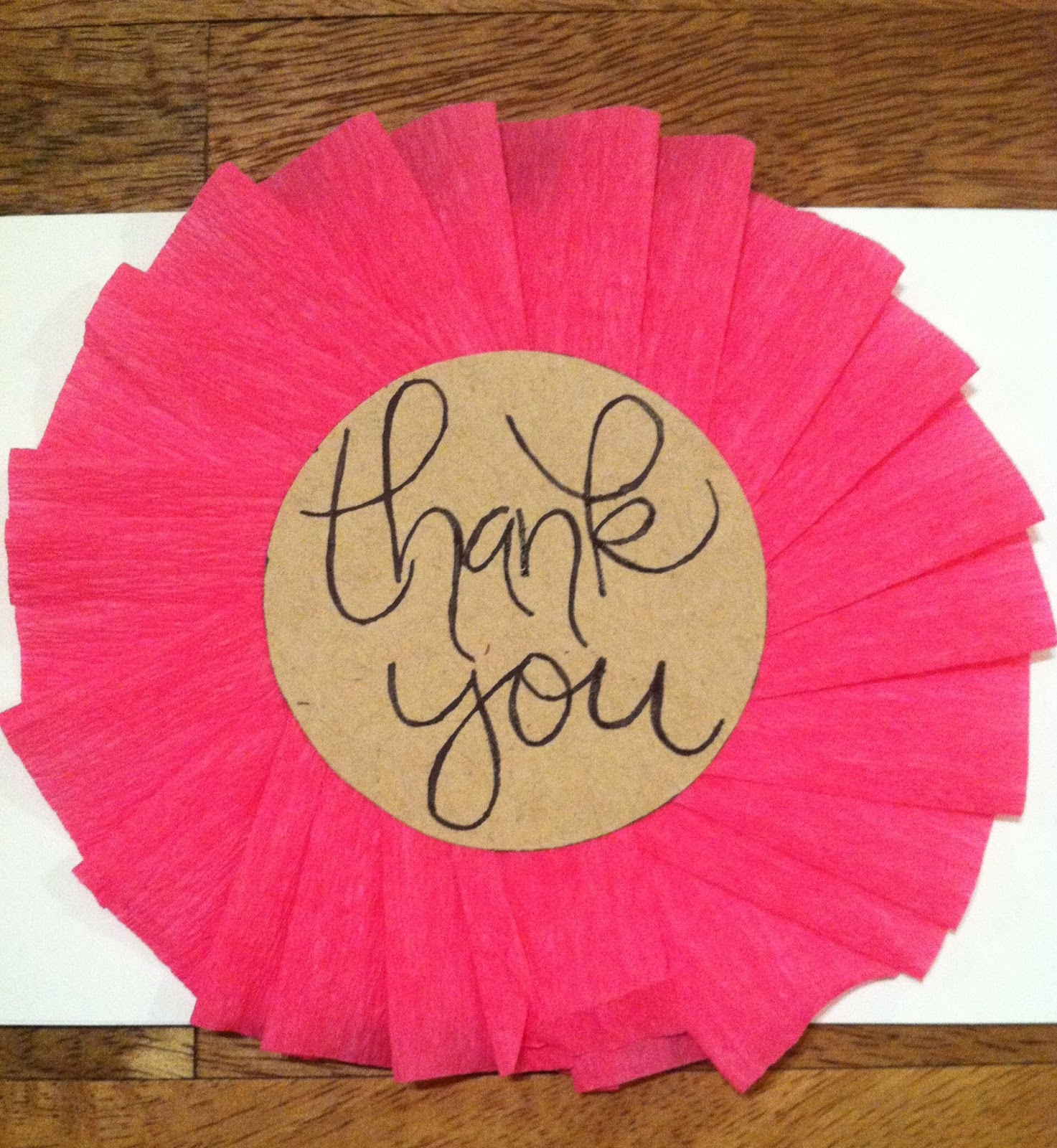 hopes & dreams: DIY: Girly Thank You Cards