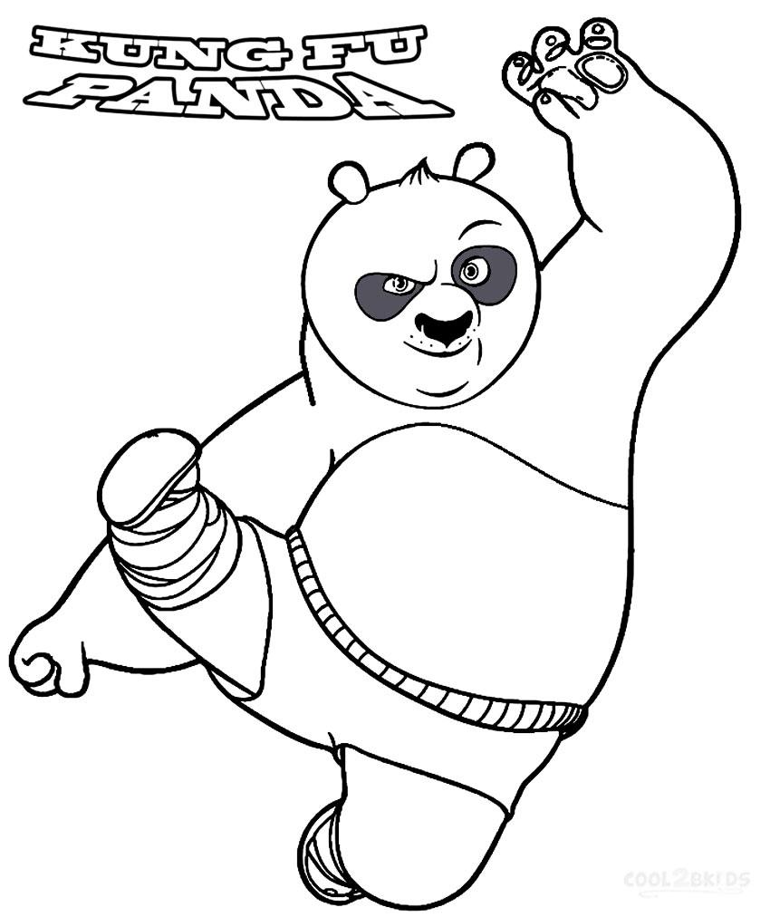 Gambar Mewarna Kungfu Panda Gambar Mewarna