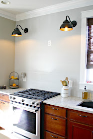 planked wall in kitchen