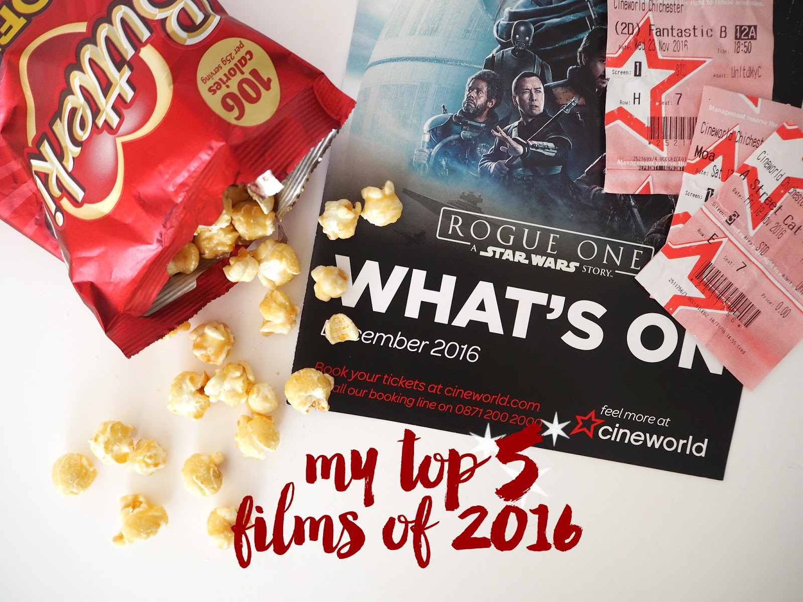 My Top 5 Films of 2016, Katie Kirk Loves, UK Blogger, Cineworld Unlimited Card, Cinema 2016, UK Lifestyle Blogger, Top Movies of 2016, Top Films of 2016, A Street Cat Named Bob, Bridget Jones Baby, Fantastic Beasts And Where To Find Them, Moana, Trolls