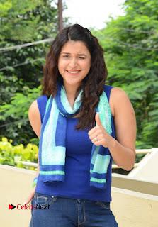 Actress Mannara Chopra Pictures in Jeans at Thikka Movie Team Meet  0001.jpg