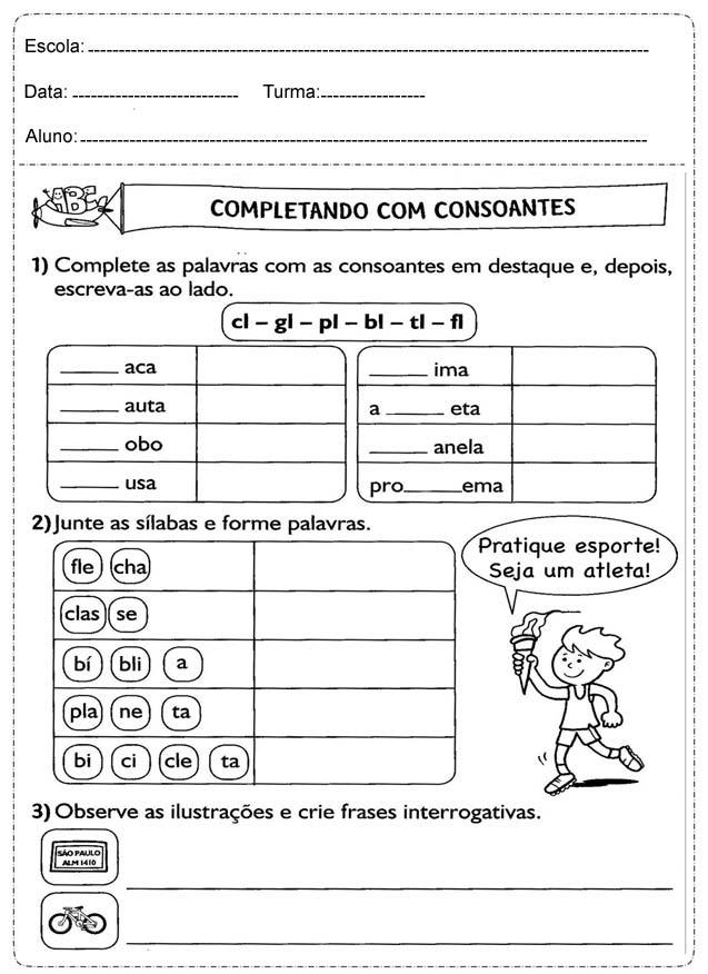 51339682a Baixe em PDF - Atividades de Português para 3º ano — SÓ ESCOLA