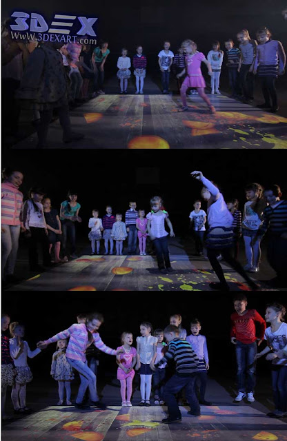 interactive floor projector for kids games and dance, live system floor