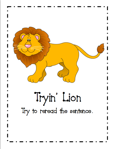 Hey Readers! Mini Poster Set for Reading Strategies ... |Kindergarten Reading Strategies Poster
