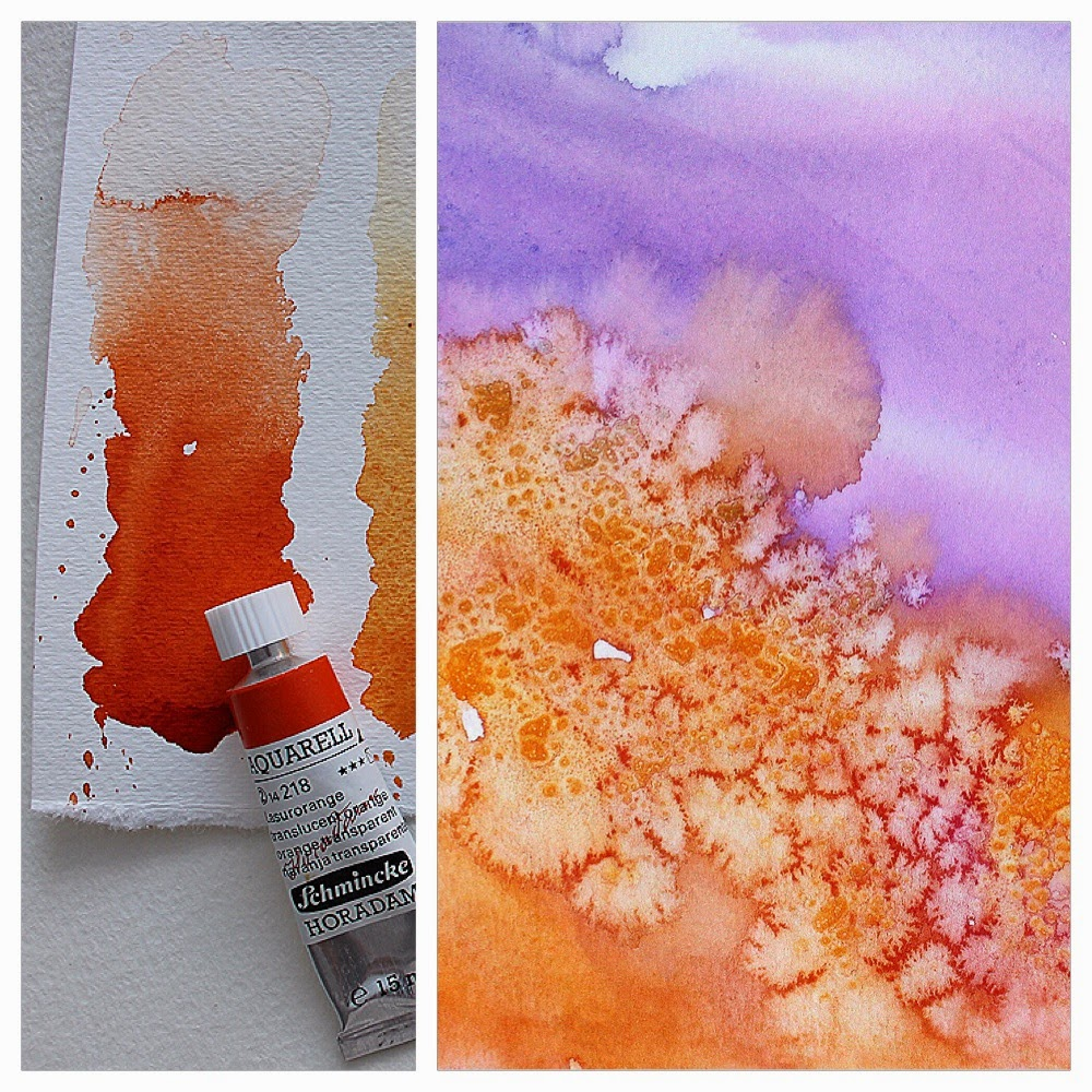 My watercolor friend ❖ Schminke Orange Transparent