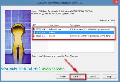 Phá mật khẩu đăng nhập Windows
