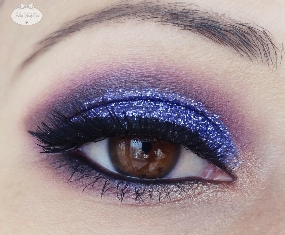 Indian Vanity Case: Purple Glitter Eye Makeup Tutorial