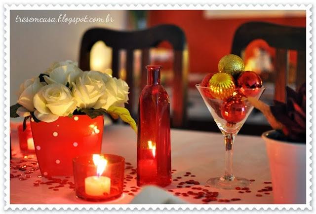 como decorar mesa natal simples