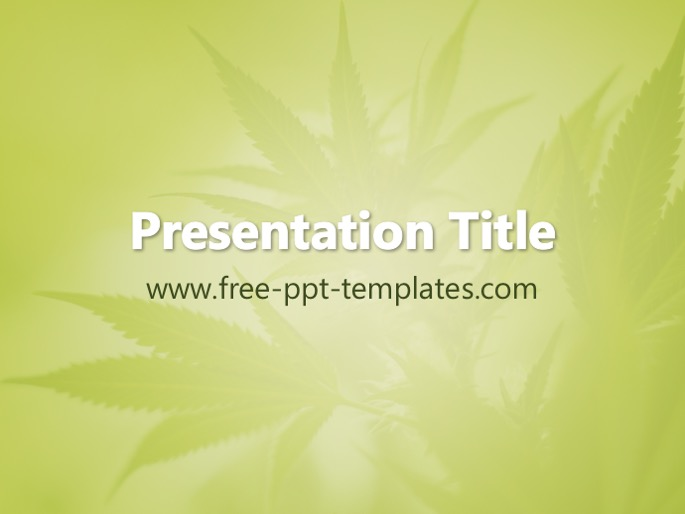 Marijuana PPT Template