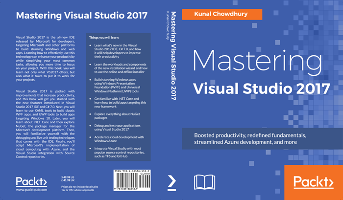 'Mastering Visual Studio 2017' (Paperback) is now available on Flipkart at a discounted price