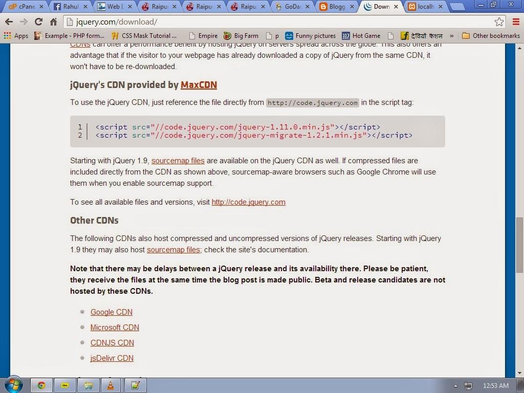 A Basic Program on Jquery