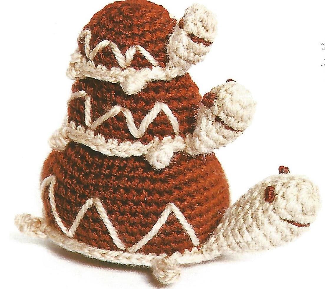 le crochet des8jika: Amigurumi tortue en famille