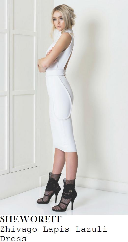 danielle-lloyd-white-braid-detail-sleeveless-high-neck-open-back-midi-dress-premiere