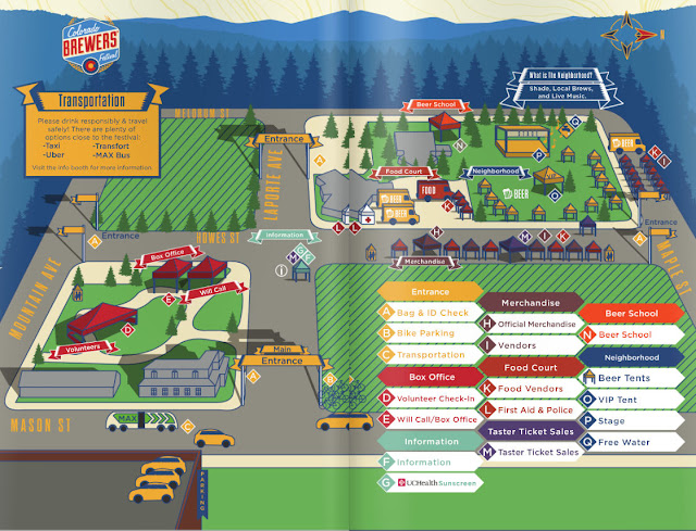 2016 Colorado Brewers' Festival map