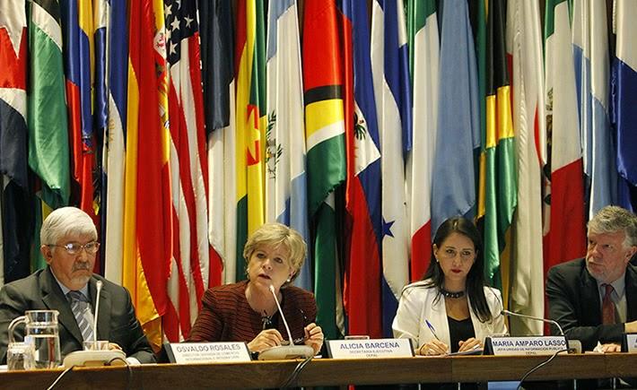 Alicia Bárcena, secretaria ejecutiva de la Cepal, presentó el informe 2014 sobre cadenas de valor en América Latina y el Caribe. (Foto: Cepal)