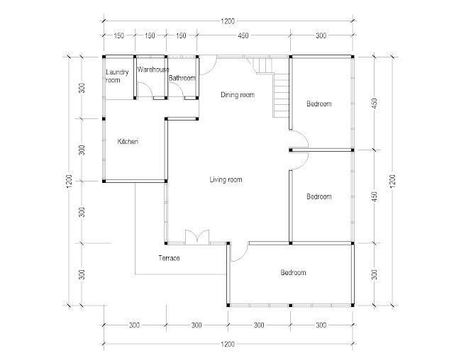 1st Floor Plan for Plan c-06