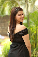 Mannara Chopra in Short Off Shoulder Black Dress ~  Exclusive 061.JPG
