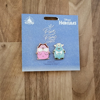 Set of 2 Disney pin badges - Pain and Panic from Hercules