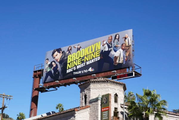 Brooklyn Nine-Nine S6 NBC billboard