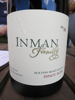 Inman Family Sexton Road Ranch Pinot Noir 2013 (90 pts)