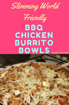 Shredded BBQ Chicken Burrito Bowls  recipes slimming world