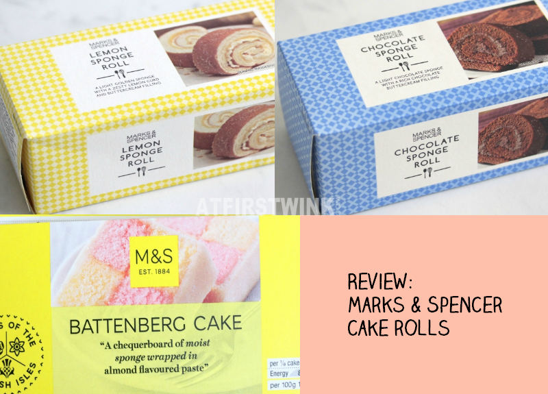Review Marks & Spencer cake rolls battenberg cake lemon chocolate sponge