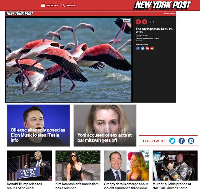 Μεγάλη διαφήμιση από αμερικάνικη εφημερίδα: Τα φλαμίνγκο του Ναυπλίου στην New York Post