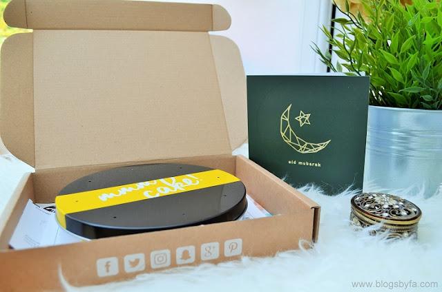 Bakerdays personalised Eid cake