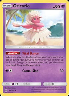 Oricorio Guardians Rising Pokemon Card