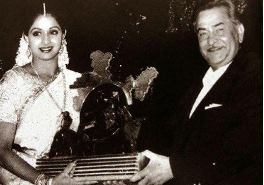 Old Photo: Raj Kapoor with Sridevi Kapoor