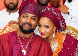 Banky W and his wife Adesua Etomi
